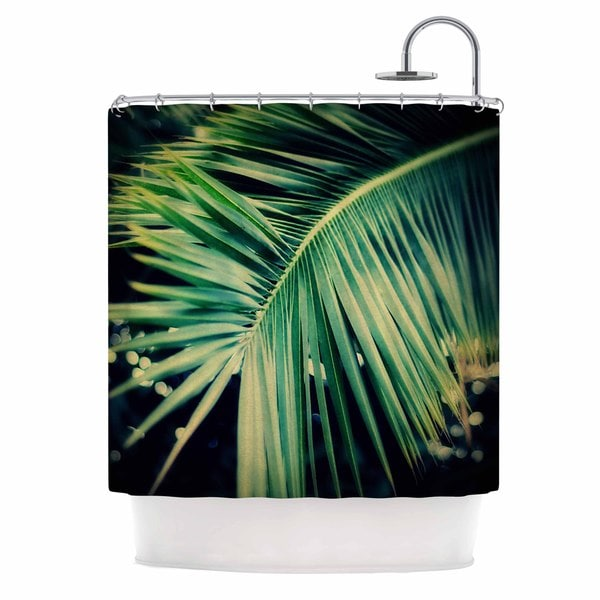 "KESS InHouse Angie Turner ""Palm Frond"" Green Nature Shower Curtain (69x70) - 69 x 70"