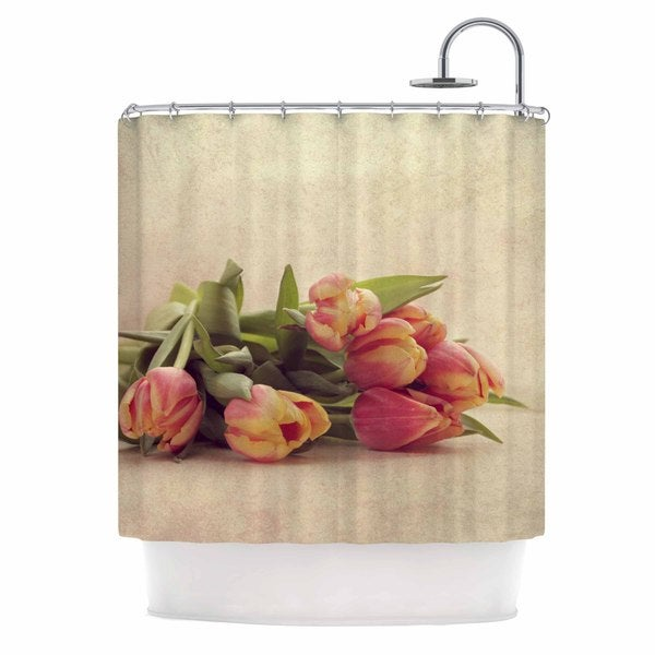 KESS InHouse Angie Turner Delicate Spring Yellow Photography Shower Curtain (69x70)