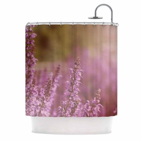 "KESS InHouse Angie Turner ""Growing Wild"" Lavender Nature Shower Curtain (69x70) - 69 x 70"