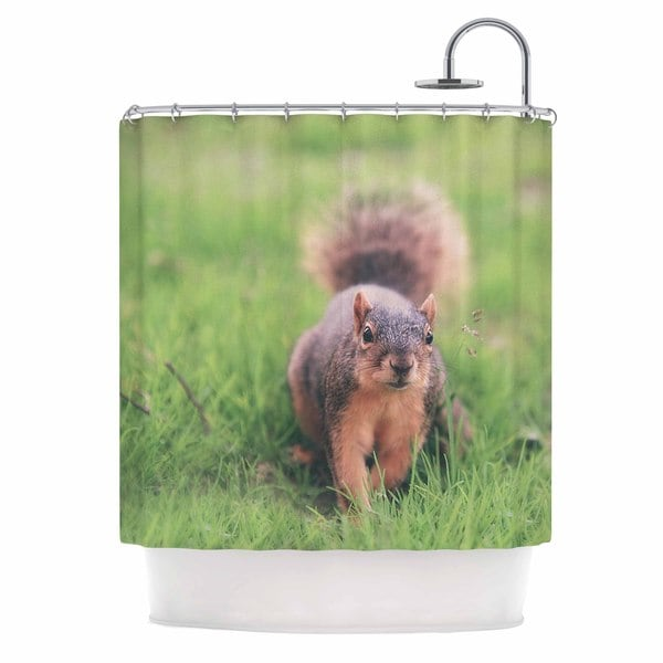KESS InHouse Angie Turner Squirrel Brown Animals Shower Curtain (69x70)