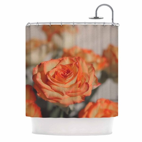 KESS InHouse Angie Turner Roses Orange Floral Shower Curtain (69x70)