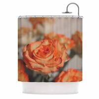 KESS InHouse Angie Turner Roses Orange Floral Shower Curtain (69x70)