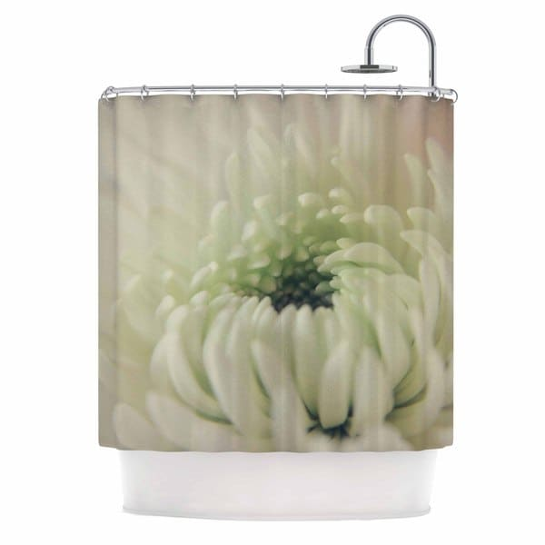 KESS InHouse Angie Turner Pure Petals White Floral Shower Curtain