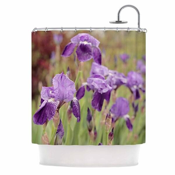 KESS InHouse Angie Turner Purple Irises Green Floral Shower Curtain (69x70)
