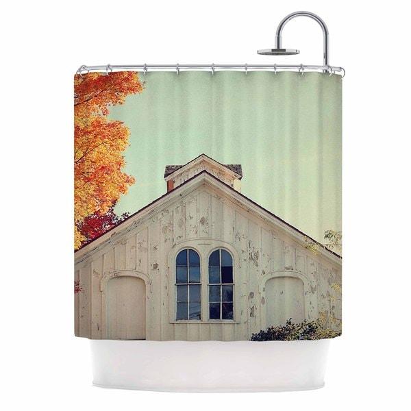 KESS InHouse Angie Turner Fall Barn Top Orange Photgraphy Shower Curtain (69x70)