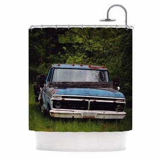 KESS InHouse Angie Turner Old Ford Truck Blue Digital Shower Curtain (69x70)