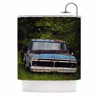 KESS InHouse Angie Turner Old Ford Truck Blue Digital Shower Curtain (69x70)