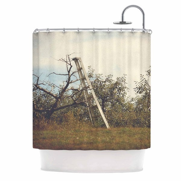 KESS InHouse Angie Turner Apple Picking Green Photography Shower Curtain (69x70)