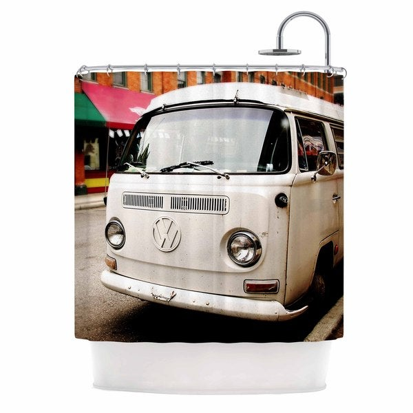 KESS InHouse Angie Turner VW Bus White Vintage Shower Curtain (69x70)