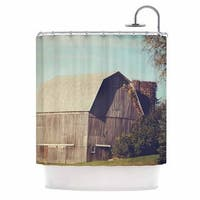 KESS InHouse Angie Turner Gray Barn Brown Blue Shower Curtain (69x70)