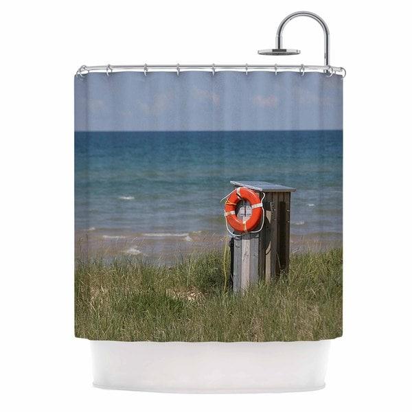 KESS InHouse Angie Turner Life Saver Blue Green Shower Curtain (69x70)