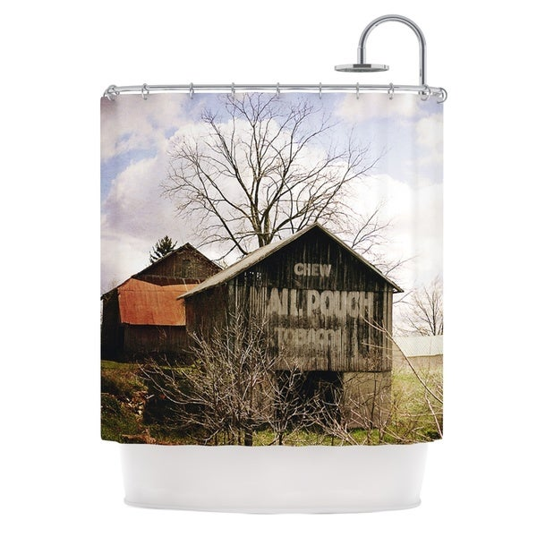 KESS InHouse Angie Turner Mail Pouch Barn Wooden House Shower Curtain (69x70)