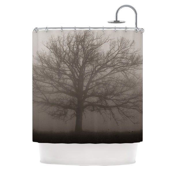 Shop KESS InHouse Angie Turner Lonely Tree Dark Fog Shower Curtain 69x70