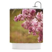 KESS InHouse Angie Turner Lilacs Pink Flower Shower Curtain (69x70)