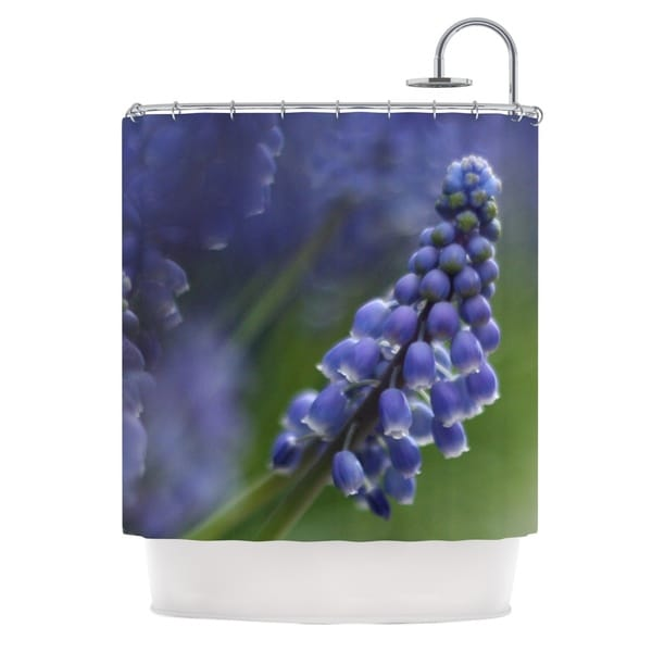 KESS InHouse Angie Turner Grape Hyacinth Green Purple Shower Curtain (69x70)