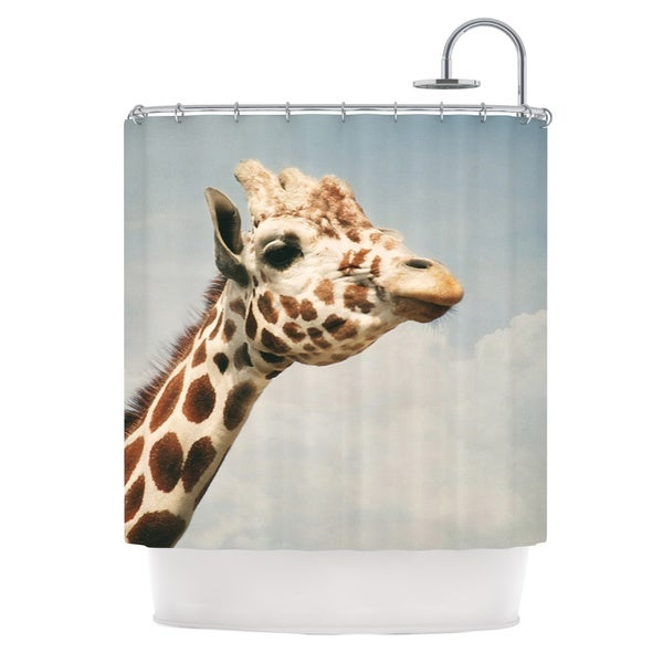 KESS InHouse Angie Turner Giraffe Animal Shower Curtain (69x70)