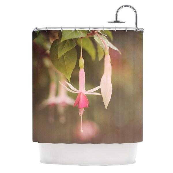 KESS InHouse Angie Turner Fuchsia Pink Flower Shower Curtain (69x70)