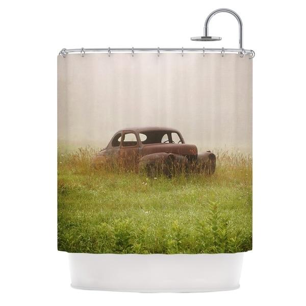 KESS InHouse Angie Turner Forgotten Car Grass Shower Curtain (69x70)