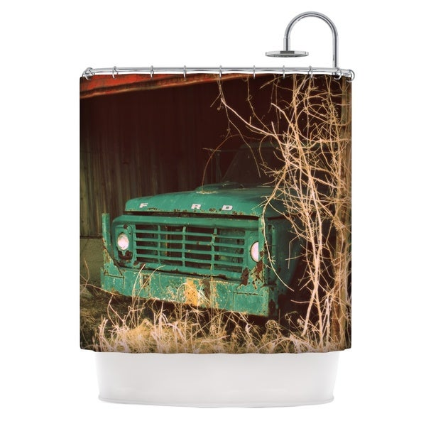 KESS InHouse Angie Turner Ford Teal Car Shower Curtain (69x70)
