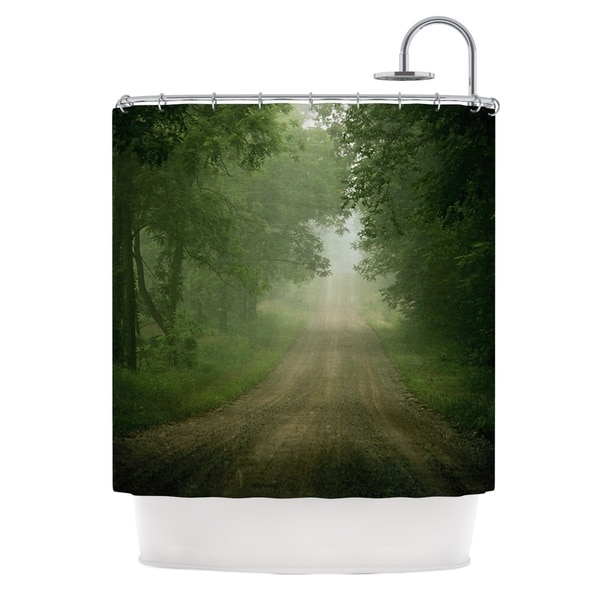 KESS InHouse Angie Turner Foggy Road Forest Shower Curtain (69x70)