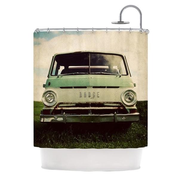 KESS InHouse Angie Turner Dodge Green Car Shower Curtain (69x70)