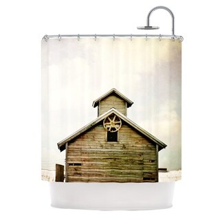 KESS InHouse Angie Turner Barn Top Wooden Shower Curtain (69x70)