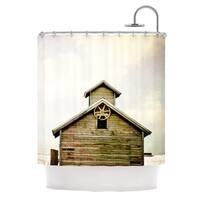 KESS InHouse Angie Turner Barn Top Wooden Shower Curtain (69x70)