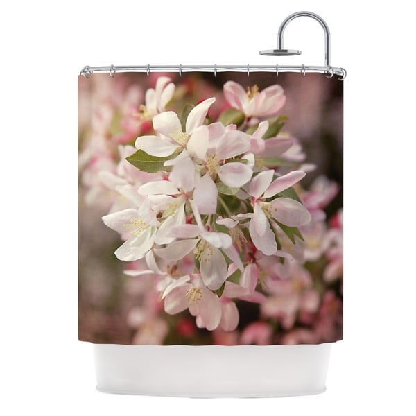 KESS InHouse Angie Turner Apple Blossoms Pink Flower Shower Curtain (69x70)