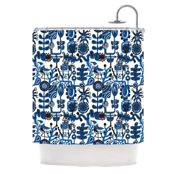 KESS InHouse Agnes Schugardt Dream Blue White Shower Curtain (69x70)