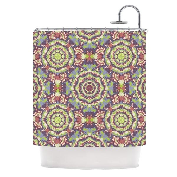 KESS InHouse Allison Soupcoff Plum Lace Green Purple Shower Curtain (69x70)