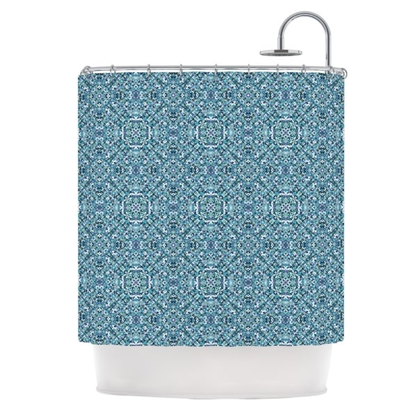 KESS InHouse Allison Soupcoff Ocean Blue Teal Shower Curtain (69x70)