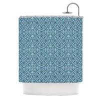 KESS InHouse Allison Soupcoff Ocean Blue Teal Shower Curtain (69x70)