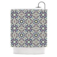 KESS InHouse Allison Soupcoff Curiosity Purple Shower Curtain (69x70)