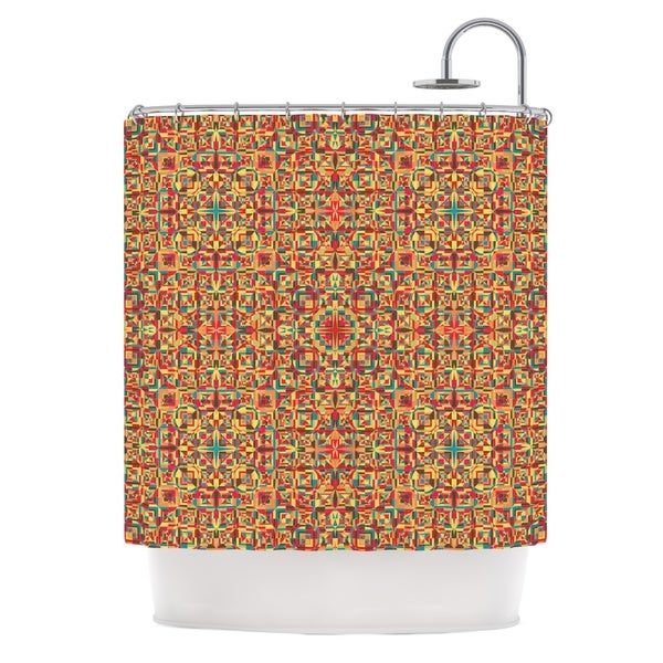 KESS InHouse Allison Soupcoff Circus Orange Shower Curtain (69x70)