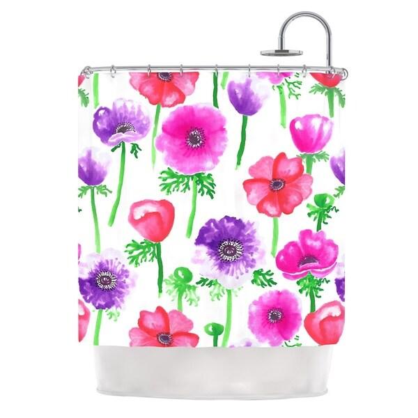 Kess inhouse anneline sophia anemones pink flowers shower curtain kess inhouse anneline sophia anemones pink flowers shower curtain 69x70 mightylinksfo