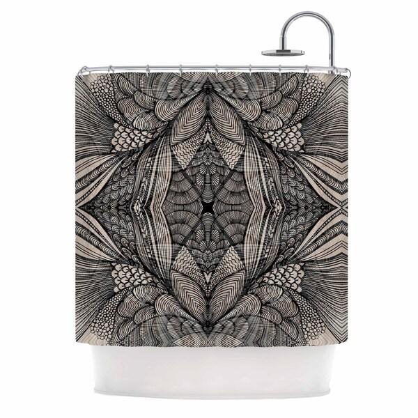 KESS InHouse Gill Eggleston Fantazia Black Gray Beige Shower Curtain (69x70)