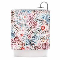 "KESS InHouse Fernanda Sternieri ""African Romance"" Red Floral Shower Curtain (69x70) - 69 x 70"