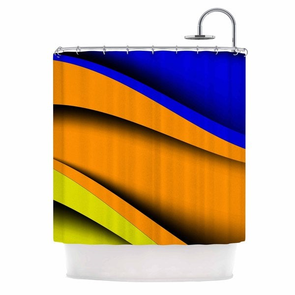 KESS InHouse Fotios Pavlopoulos Colorful Flow Abstract Digital Shower Curtain (69x70)
