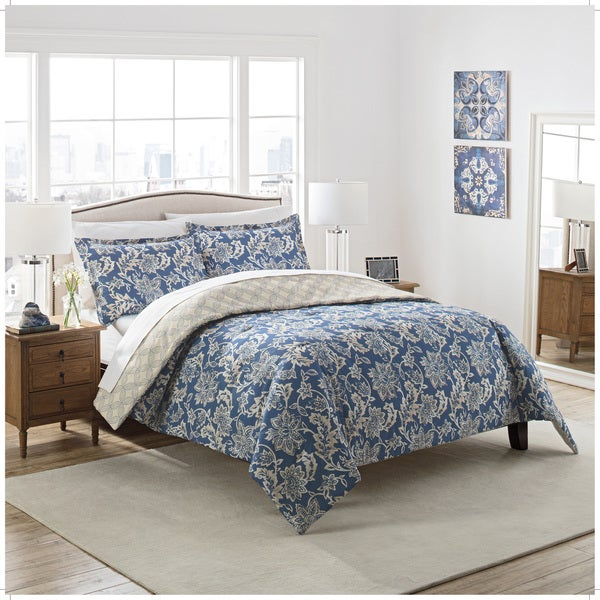 Marble Hill Coventry Reversible 100% cotton 3-Piece Comforter Set