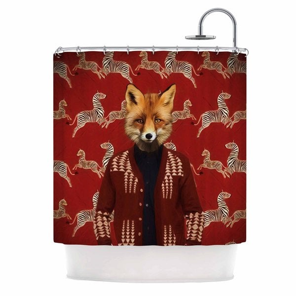 KESS InHouse Natt Family Portrait N1 Red Fox Shower Curtain (69x70)