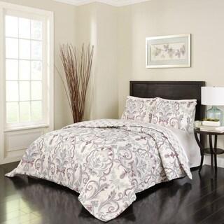 Marble Hill Royal Meadow Reversible 100% cotton 3-Piece Comforter Set