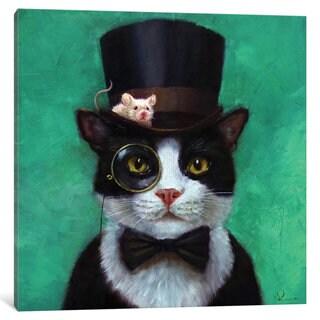 iCanvas 'Tuxedo Cat' by Lucia Heffernan Canvas Print