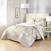 Marble Hill Garden Party Reversible 100% cotton 3-Piece Comforter Set