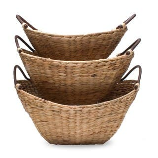 TAG Hyacinth Basket Set Of 3|https://ak1.ostkcdn.com/images/products/15123813/P21608914.jpg?impolicy=medium