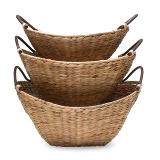 TAG Hyacinth Basket Set Of 3