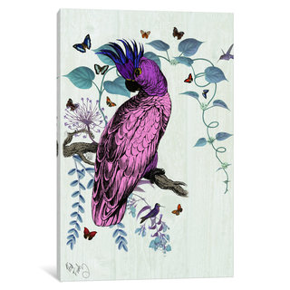 iCanvas 'Pink Parrot' by Fab Funky Canvas Print
