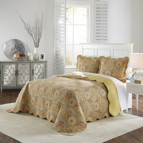 Waverly Swept Away 100% Cotton 3 Piece Bedspread Collection