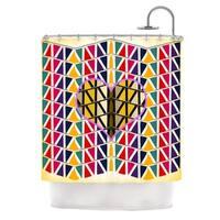 "KESS InHouse Famenxt ""Heart in Abstract Pattern"" Geometric Abstract Shower Curtain (69x70) - 69 x 70"
