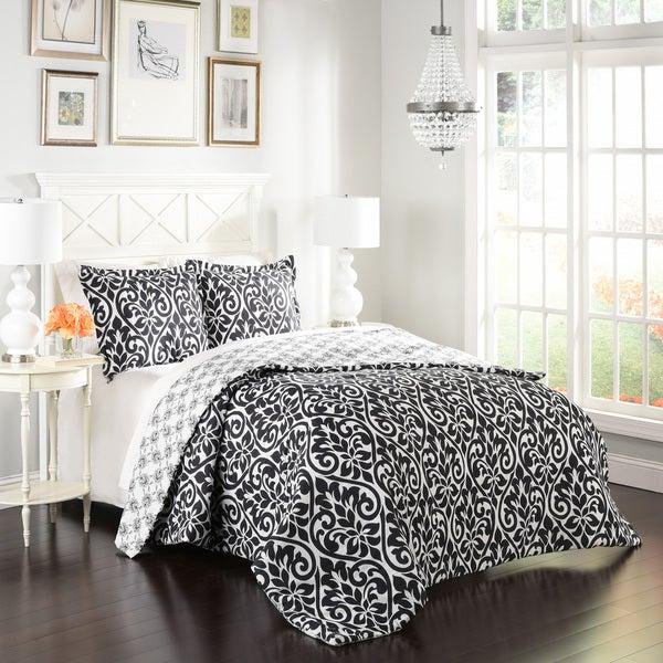 Marble Hill Hadley Reversible 100% cotton 3-Piece Comforter Set