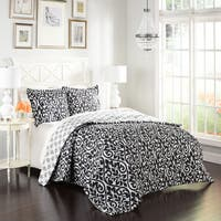 Marble Hill Hadley Reversible 100% cotton 3-Piece Comforter Set